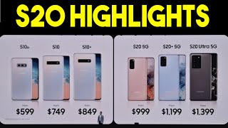 Samsung Galaxy S20 / S20 Plus / S20 Ultra - HIGHLIGHTS Live Launch Samsung Unpacked