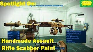 Fallout 4 (mods) - Jenny - Spotlight On: Handmade Assault Rifle Scabber Paint