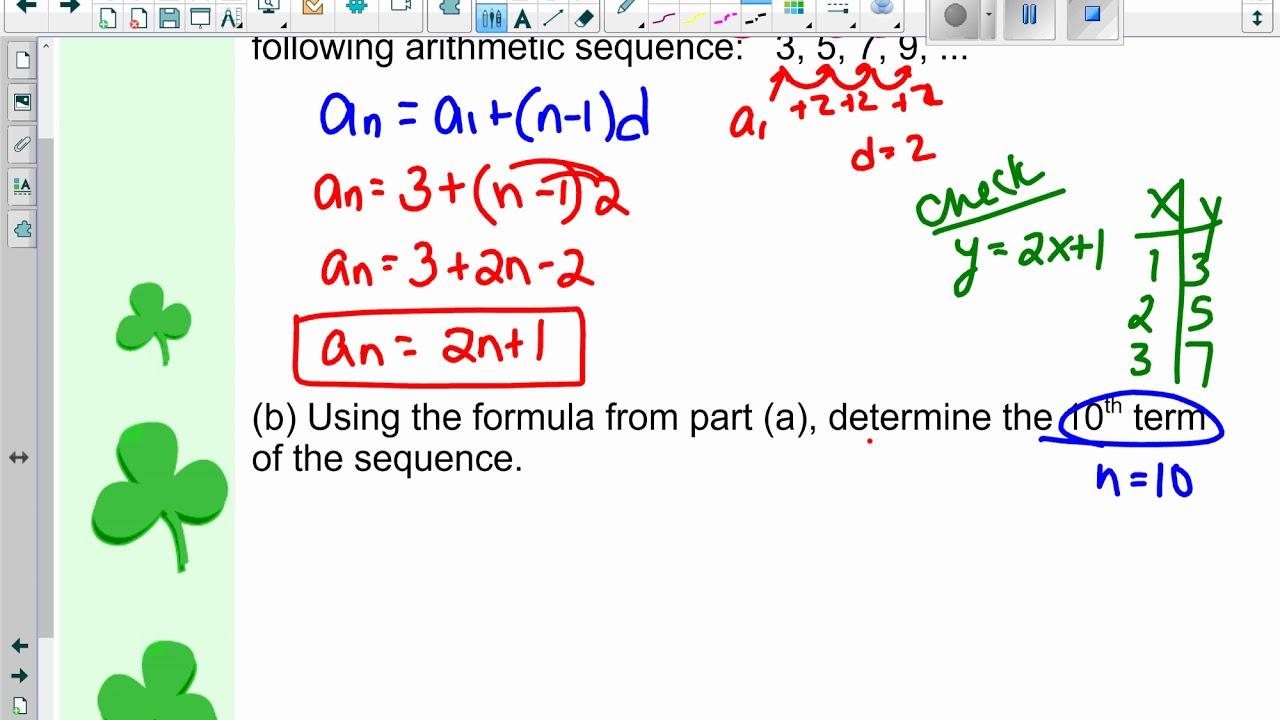 Explicit Formulas for Arithmetic and Geometric Sequences ...