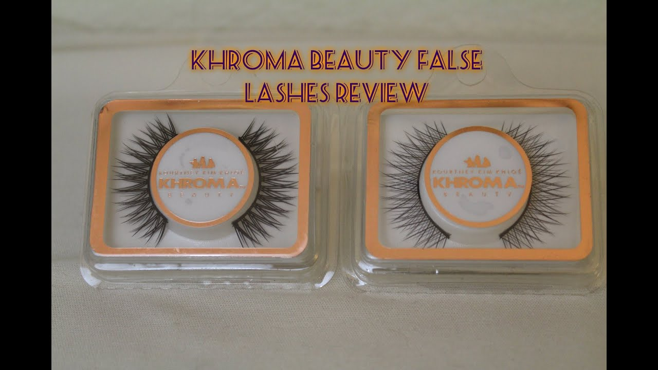Khroma Beauty Lashes Review Youtube