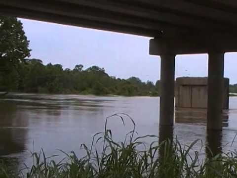 Red river flood 2015 north of Clarksville Texas Part 2