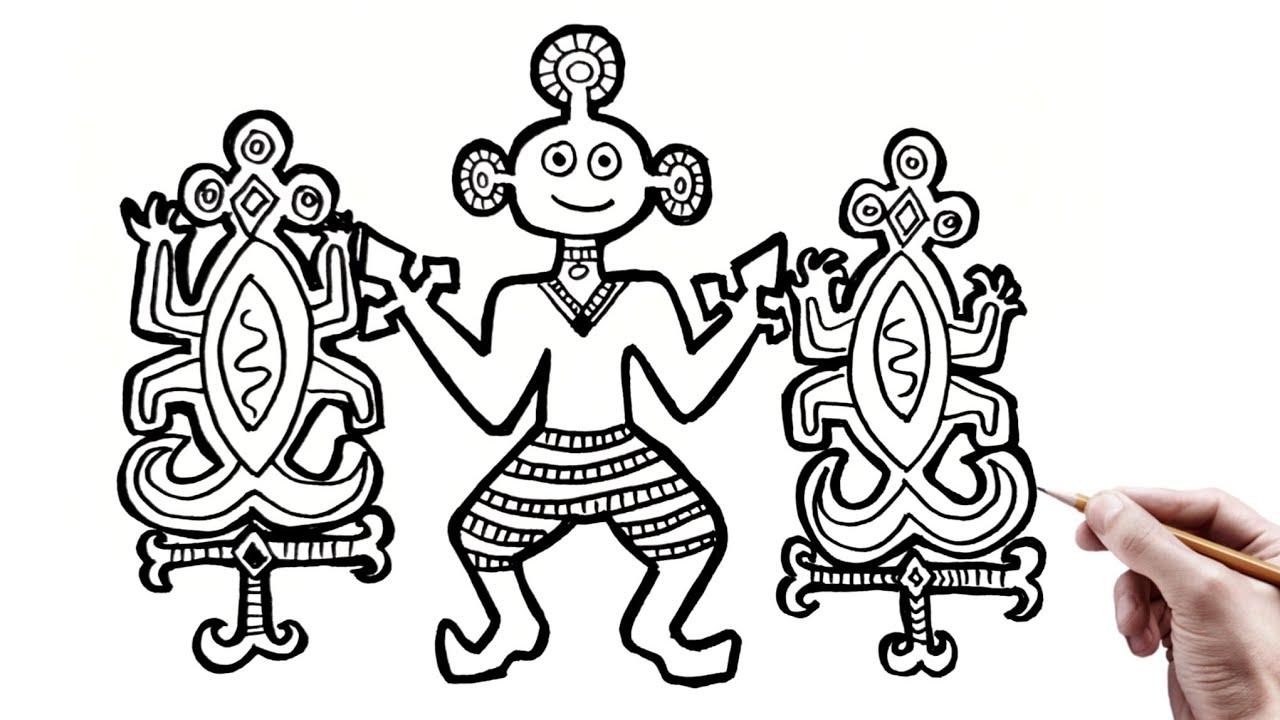 Menggambar Ragam Hias Figuratif Desain Motif Batik Ragam Hias Nusantara Youtube