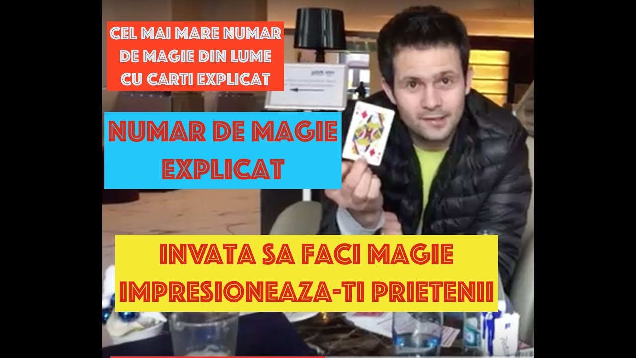 Cel mai mare numar de magie din lume cu carti EXPLICAT