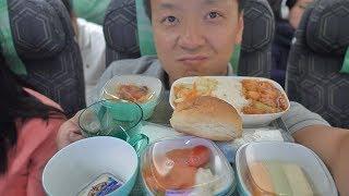 Food Review! EVA Air ECONOMY CLASS New York to Saigon Vietnam & First Day in Vietnam