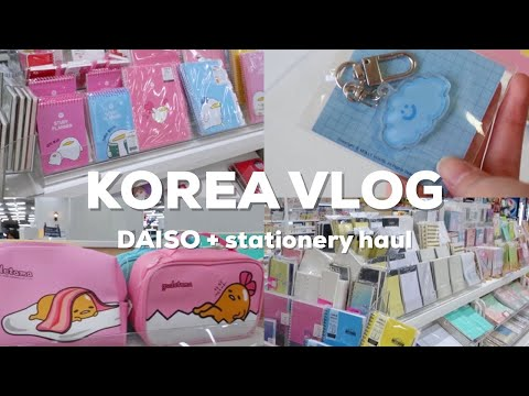 KOREA VLOG | Huge Daiso, stationery haul, journal with me
