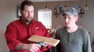 Dad And Jack Outdoors: Deer Hoof Gun Rack