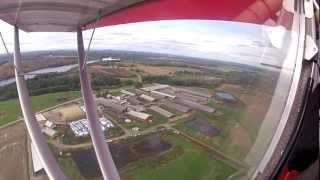 Flying over Floods High Tech Dairy Farm in Maine in a Sky Ranger