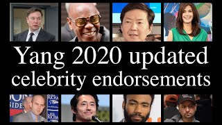 Andrew Yang's updated Celebrity endorsements