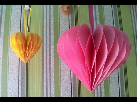 Оригами ВАЛЕНТИНКА сердце с посланием (Подарок девушке или парню)