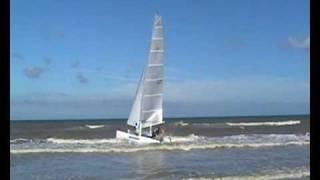 Catamaran zeilen op ameland 2007