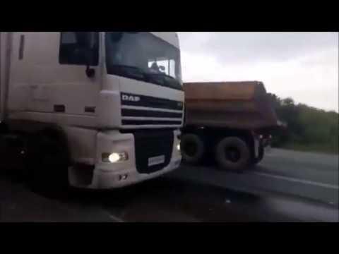 Столкновение битумовоза и Lada Priora