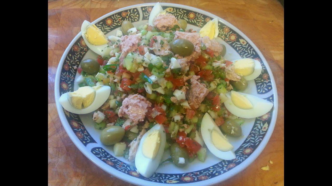 cuisine tunisienne la salade tunisienne de tunis youtube