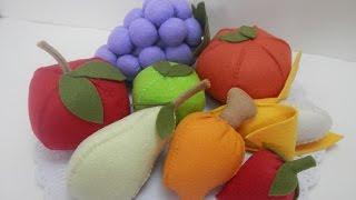 Frutas 3D em feltro por Alinne Marques