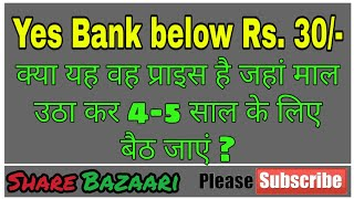 Yes Bank Share Fallen to 30/- | Is it the time to buy this stock for 5 years now?