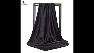 Черный женские модные ботинки полусапожки ботильоны с квадратным шелковый шарф обертывания осень