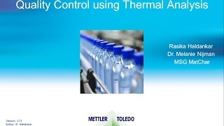 Quality control (QC) using Thermal Analysis – online training course