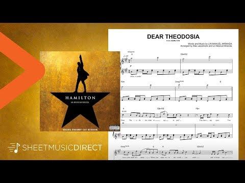 Dear Theodosia Sheet Music (from Hamilton) - Lin-Manuel Miranda - Piano & Vocal