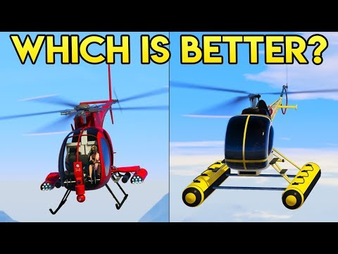 GTA Online SEA SPARROW vs BUZZARD - Which is Better?