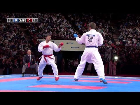 Final Male Kumite +84Kg. Enes Erkan vs Shahin Atamov. WKF World Karate Championships 2012