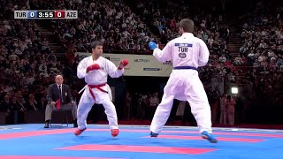 Final Male Kumite +84Kg. Enes Erkan vs Shahin Atamov. WKF World Karate Championships 2012