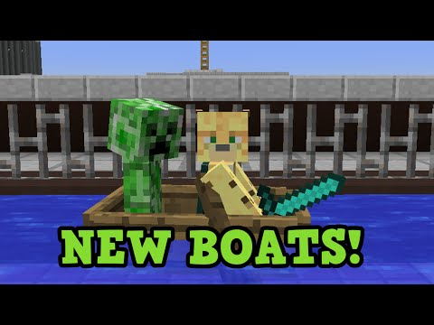 Minecraft Xbox 360 / PS3 TU43 New Boats Feature Preview