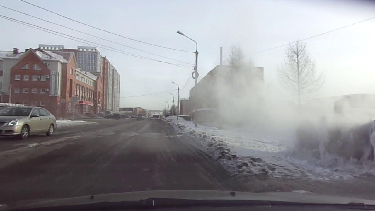 Зимний Омск: Из Амурского поселка в центр.