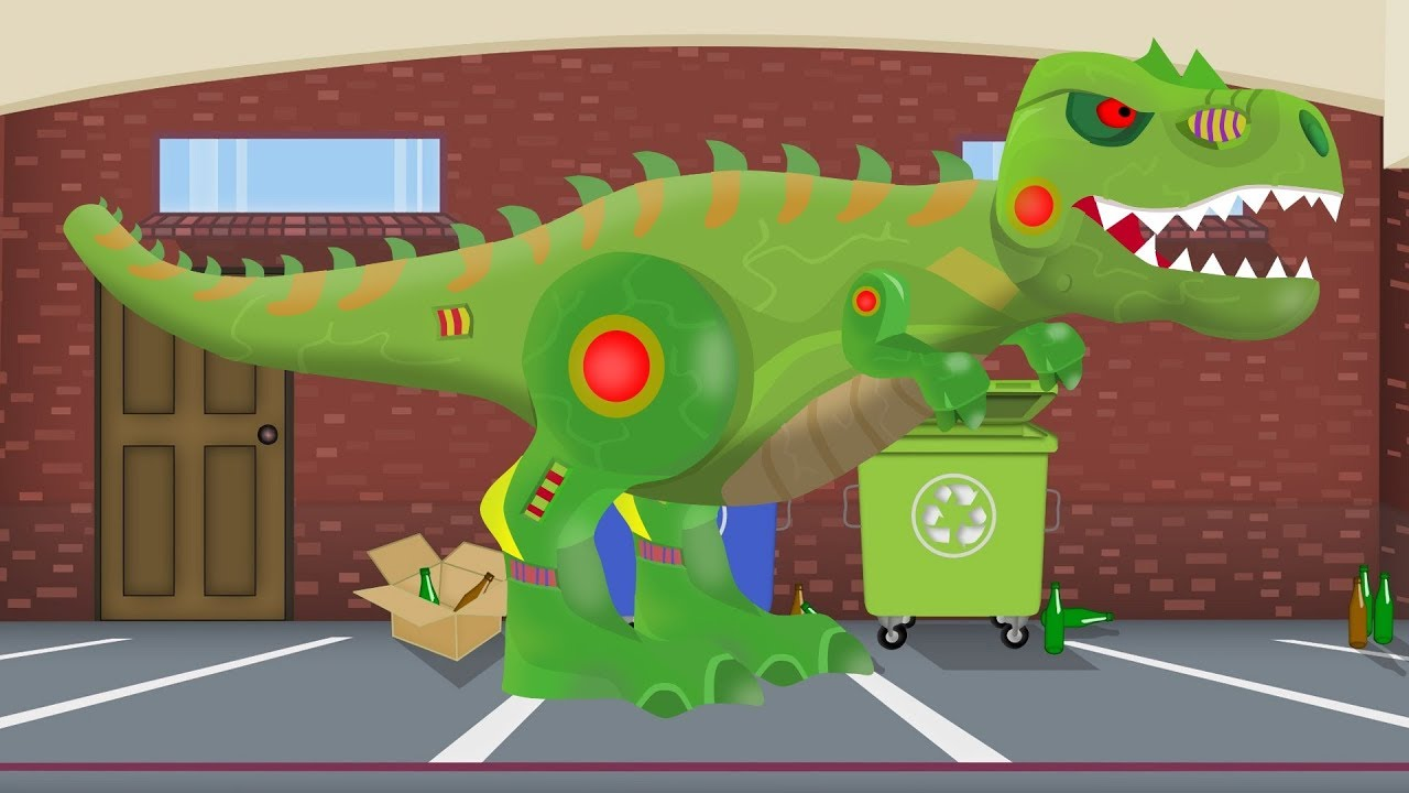 Tank and Dinosaur Robot | Formation and uses |  Toy Factory For Kids | Czołg - Bajka Dinozaur Youpii