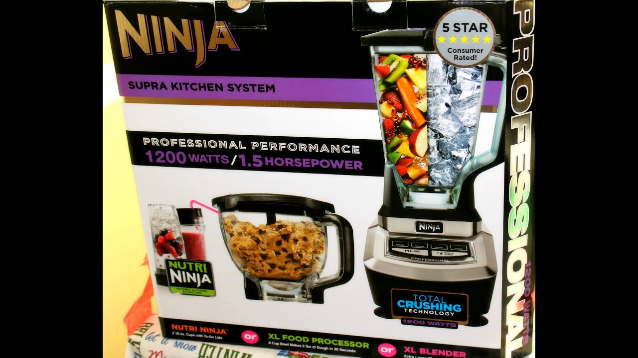 Ninja Blender Review- Mega Kitchen System Blender 1200 watts - YouTube