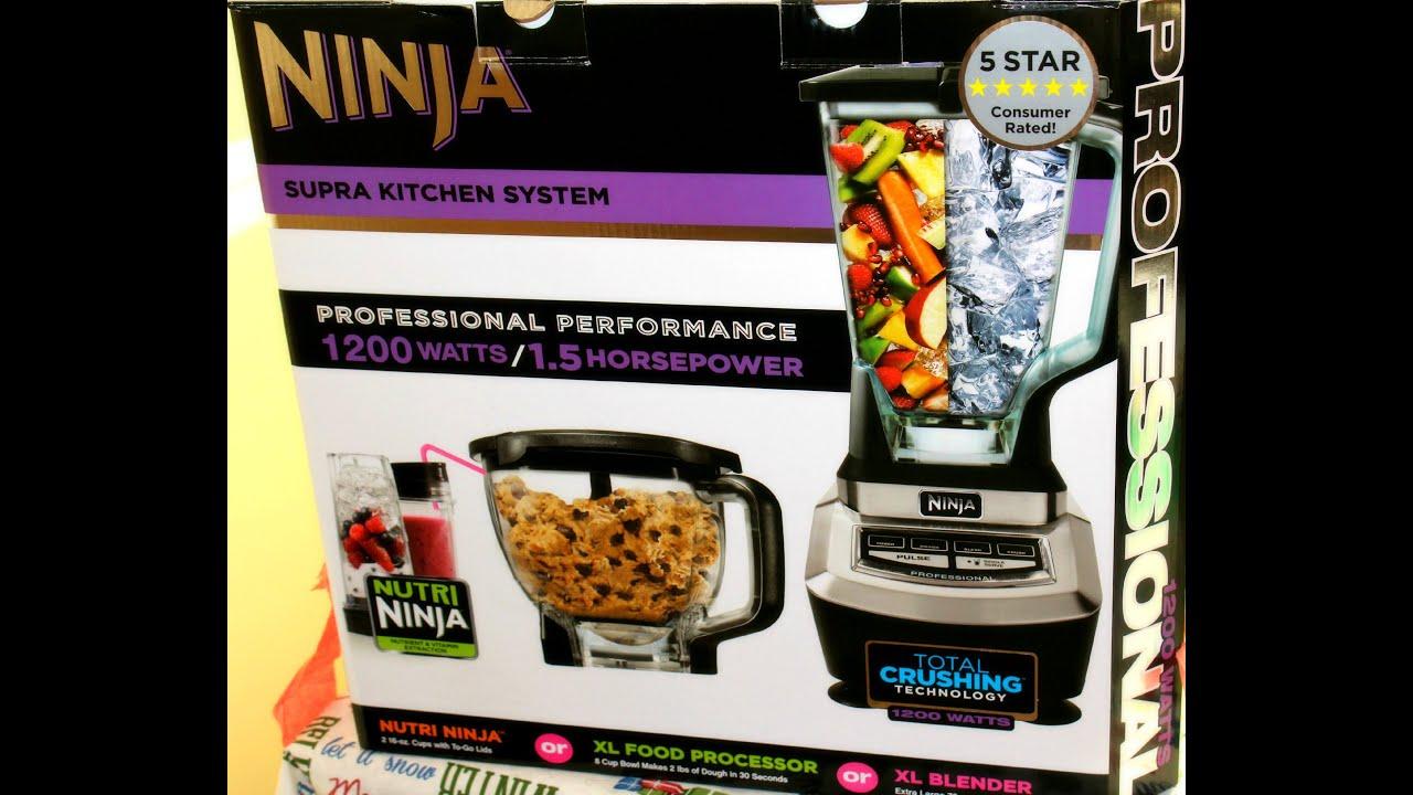 Ninja 1500 Watt Mega Kitchen System Wall Paper Blender Review 1200