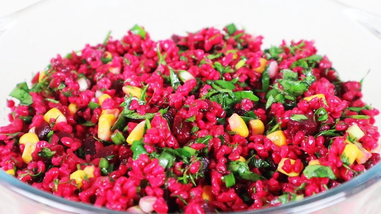 Bulgurlu Pancar Turşusu Salatası Tarifi Yemek Tarifleri Salatalar Youtube