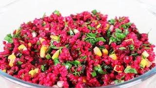 Bulgurlu Pancar Turşusu Salatası Tarifi - Yemek Tarifleri | Salatalar