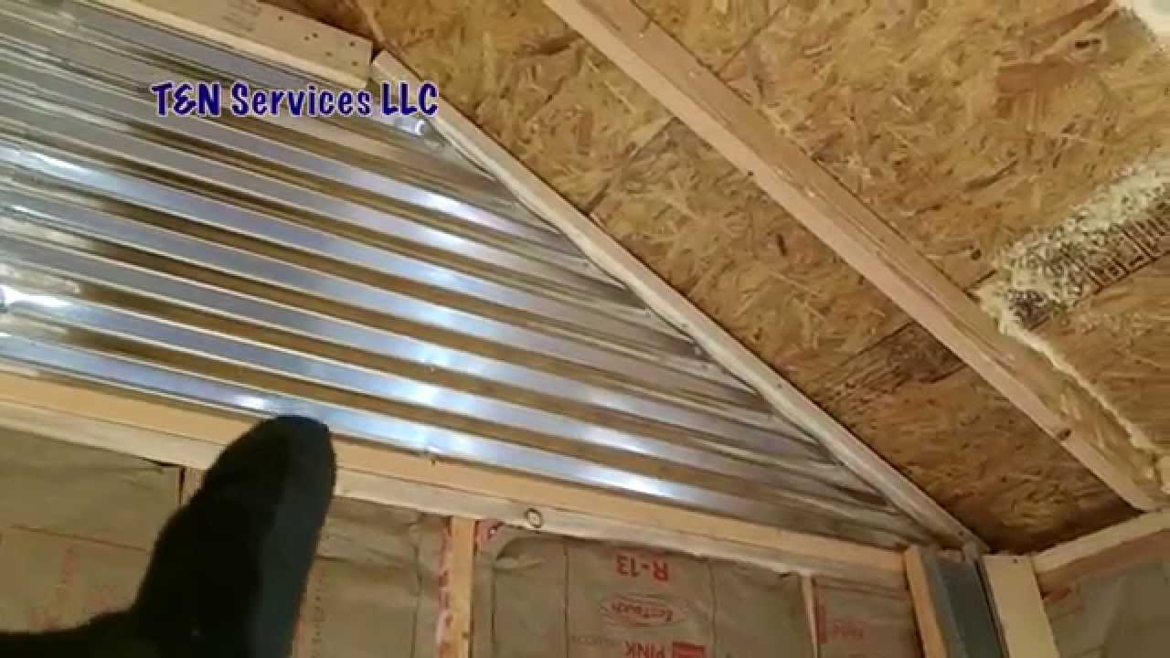 How To Build A 12x20 Shed Part3 Walls Amp Insulation Youtube