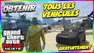 GTA 5 Online DLC Braquages - Obtenir Tous les Véhicules (Hydra,Savage,Valkirie,Insurgent,Kuruma..)!