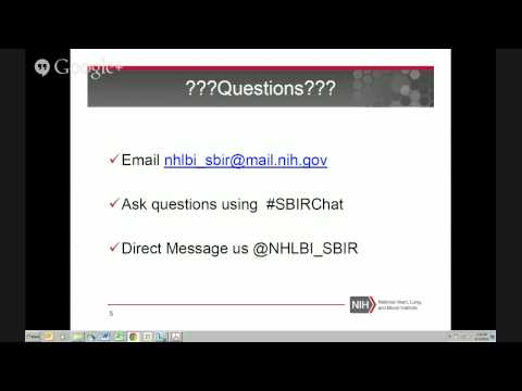 NHLBI Small Biz Hangout: Intellectual Property for the New Biomedical Innovator