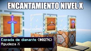 Como ENCANTAR A NIVEL X o INFINITO - TRUCO de COMANDOS MINECRAFT 1.12 - 1.11 - 1.10.2 ESPAÑOL