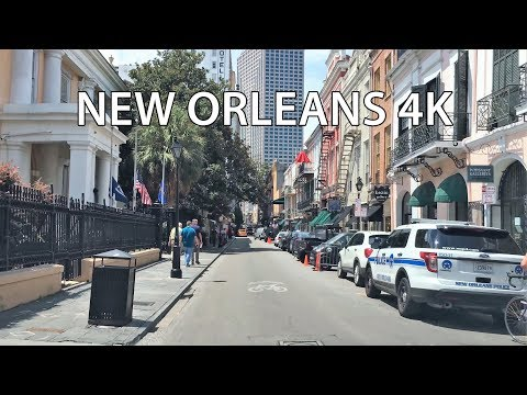 Driving Downtown - New Orleans 4K - USA