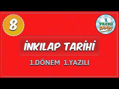 8 Sinif Inkilap Tarihi 1 Donem 1 Yaziliya Hazirlik Youtube