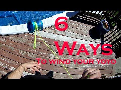 6 Ways To Wind Your YoYo Fast Tutorial.  Fastest way to wind a yoyo tutorial.