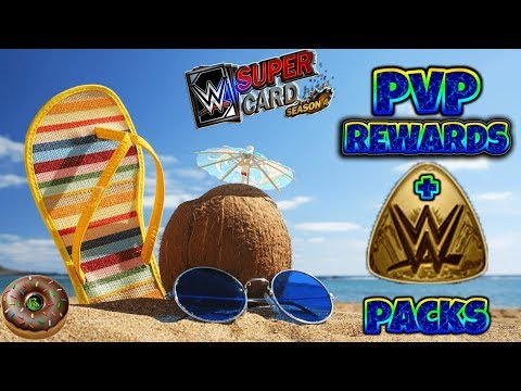 WWE SUPERCARD: PVP REWARDS AND CP PACK OPENING!!!