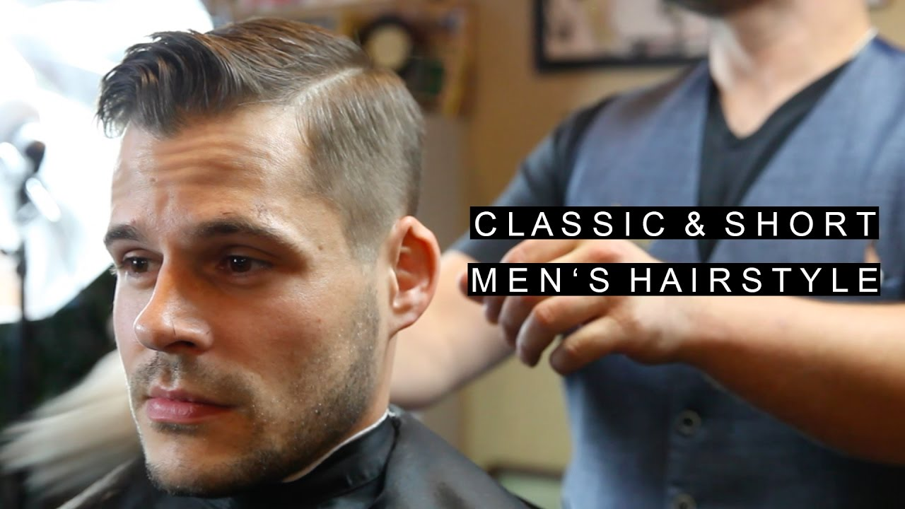 classic short men's hairstyles | easy to maintain | business professional haircut /w natural part