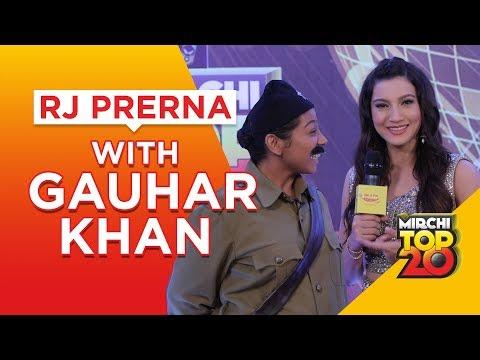 mirchi-top-20-|-gauhar-khan-explains-bollywood-songs-|-rj-prerna-|-radio-mirchi