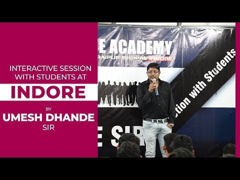 Interactive Session with Students at INDORE !!!