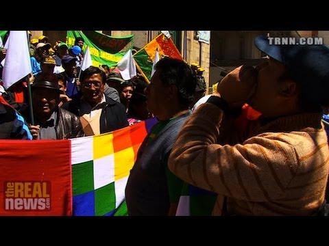 Bolivianos Protestan Ataque de Estados Unidos Contra Syria