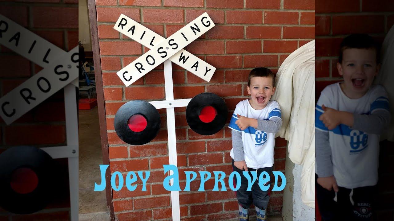 Diy Railway Crossing Sign Youtube