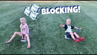 Family Ice Blocking Adventure!