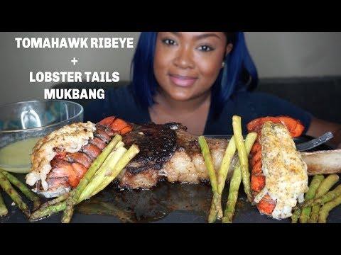 SURF and TURK SEAFOOD BOIL MUKBANG| EATING SHOW| TOMAHAWK RIBEYE thumbnail