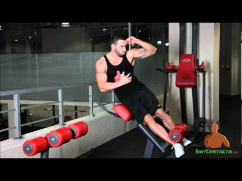 Roman Chair Side Bends Http Bodyconstructor Com Youtube