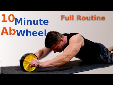 10 Minute Ab Wheel Full Workout