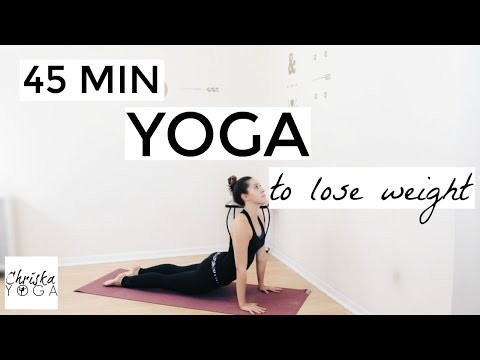 Yoga to Lose Weight - 45 Minute Yoga Flow for Weight Loss - Fat Burning Yoga Workout