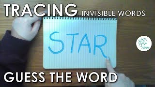 ASMR • Tracing Invisible Words • Guess What I'm Tracing Game | Whispering, Tapping